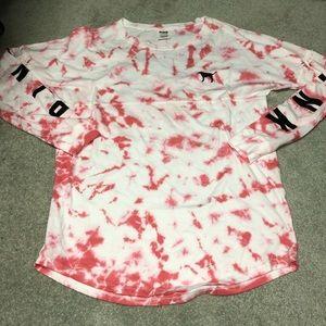 Vs pink tie dye shirt